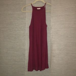 Silence + Noise Burgundy Sleeveless Dress Small